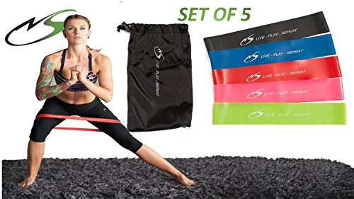 All New 5 pack Flexx Mini Band by Newitt Sports, 100% latex exercise bands for at home or at the gym. Take your body to the next level of exercise, the ultimate in portable training