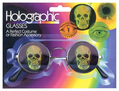 zeroUV - Hologram Holographic Illusion Poker Face Metal Round Sunglasses (Skulls - Sunglasses Money
