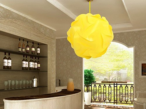 Fding Current IQ Puzzle Lampshade for DIY Home Decor Art Decor- Jigsaw Lights Lampshade (Medium, Yellow)