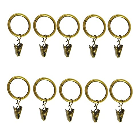 30 Pieces Metal Clip Rings Pole Rod Voile Net Curtains Hanging 25 MM Bronze