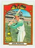 1972 Topps Baseball 62 Angel Mangual Oakland Athletics Near-Mint