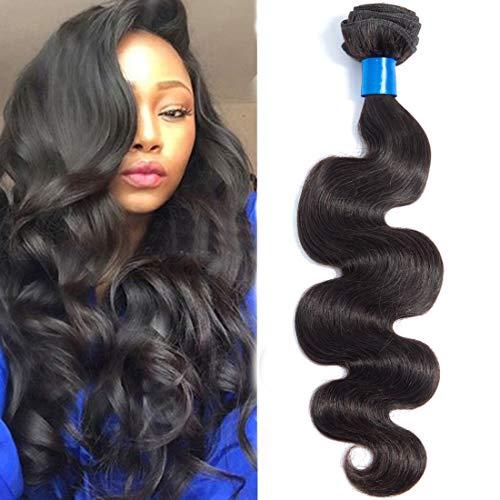 Cranberry Hair Unprocessed Brazilian Virgin Hair Body Wave 24 Inch One Bundle Virgin Human Hair Extensions Natural Color (100+/-5g)/pc (One Bundle)