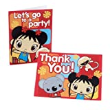 Ni Hao Kai-Lan Invite and Thank You Combo (16 per package)