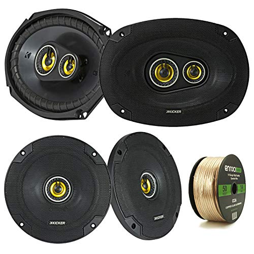2 Pair Car Speaker Package Of 2x Kicker CSC654 600-Watt 6.5