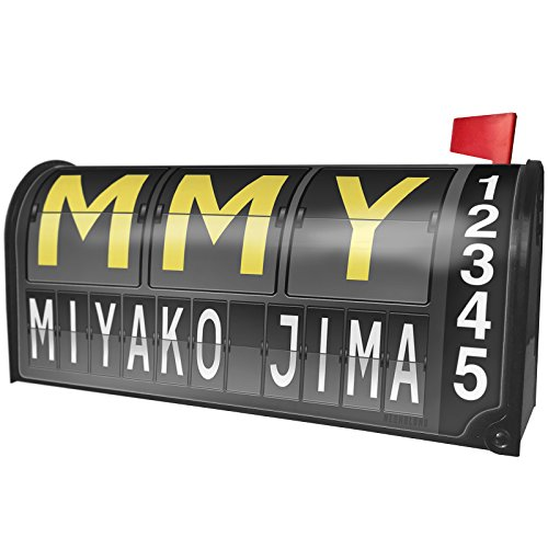 NEONBLOND MMY Airport Code for Miyako Jima Magnetic Mailbox Cover Custom Numbers by NEONBLOND