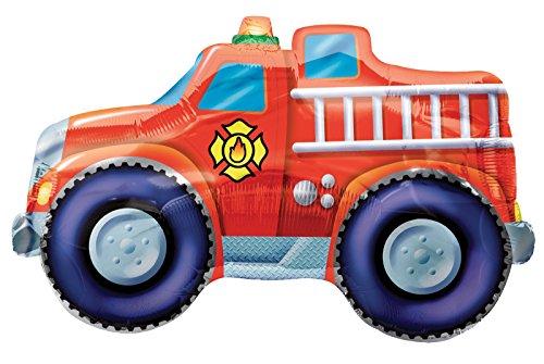 BirthdayExpress Fire Trucks Jumbo 33
