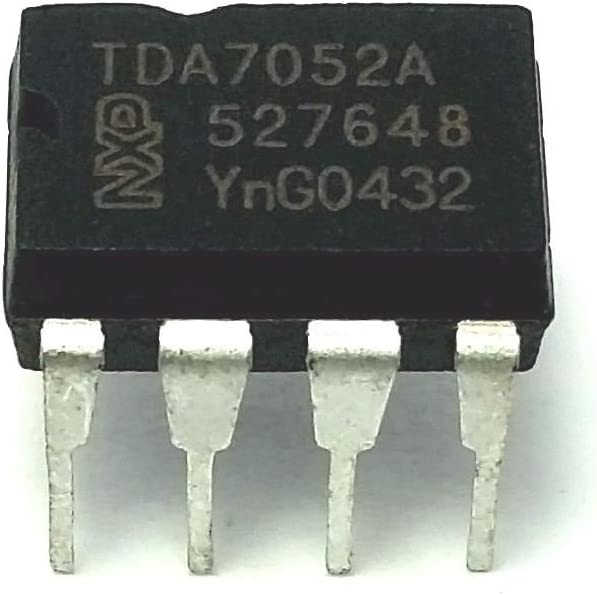 Pack of 10 Philips//NXP TDA7052A IC Mono Audio Amplifier /& 8-Pin DIP Sockets with Machined Contact Pins