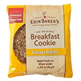 Erin Baker's Breakfast Cookies, Banana Walnut, 3-Ounce Individually Wrapped Cookies, 12 Count