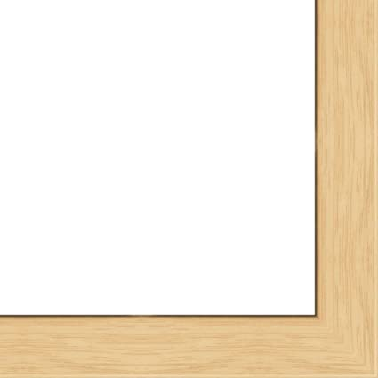 Amazon.com - 18x24 - 18 x 24 Natural Oak Flat Solid Wood Frame with ...
