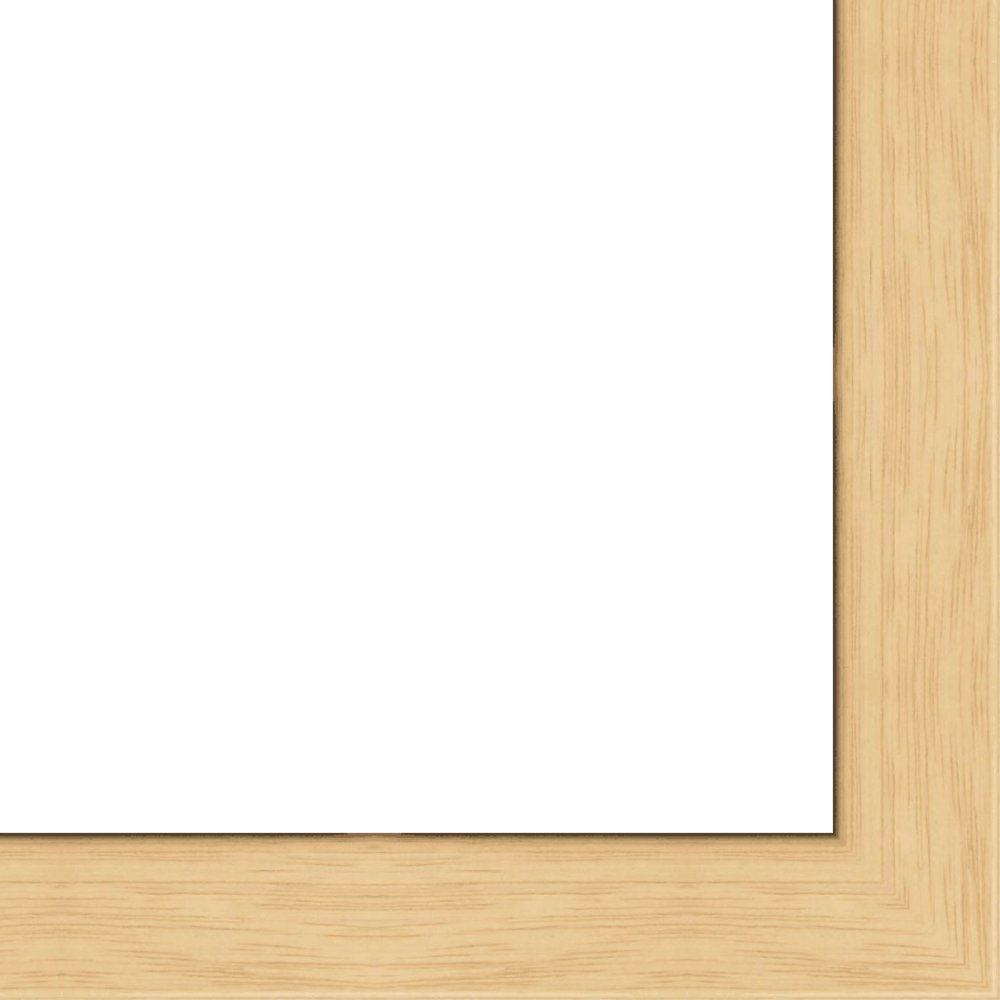 18x24 Flat Oak Wood Frame - ''The Edge'' Thin - Great for Posters, Photos, Art Prints, Mirror, Chalk Boards, Cork Boards and Marker Boards