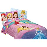 Disney MJ6158 Princesses Dreaming Princess Comforter, Twin