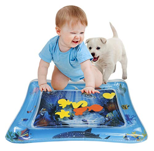 Baby Water Mat Inflatable Tummy Time Baby Toys 6-12 Months Infants Toddlers Fun Play Time Mat Stimulation Growth (Best Toys For 9 12 Months)