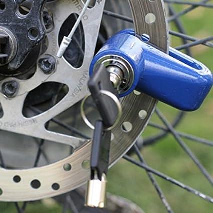 Tinksky Durable Scooter v/élo v/élo moto Mini s/écurit/é antivol disque frein /à disque Rotor Lock noir