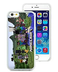 Unique And Fashionable Designed Cover Case For iPhone 6 4.7 Inch TPU With Minecraft Game White 045 Phone Case