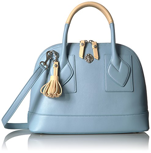 Anne Klein Billie Small Dome Satchel, Ocean Blue-Natural (Dome Small)