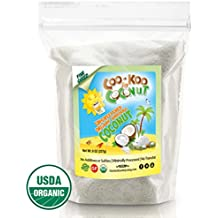 Organic Shredded Coconut Unsweetened, 8 oz, Fine w/ Premium Recipe E-Cookbook, Gluten Free for Macaroons, Pies, and Coconut Milk