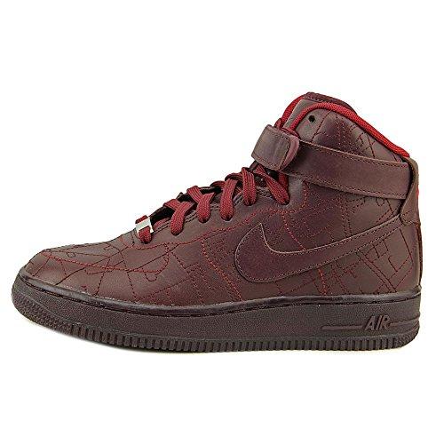 Nike Air ForceHi Fw Qs para mujer de los zapatos de baloncesto 040 600 Profundo Borgoña M Deep Burgundy