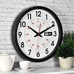 Firstime 25604 Firstime Day Date Wall Clock