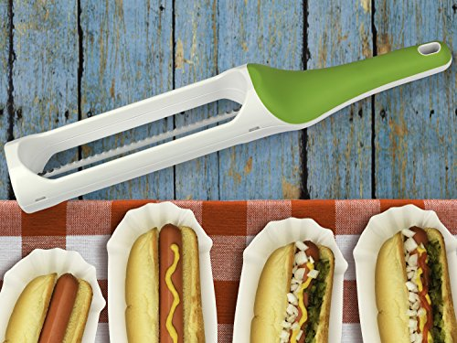 Urban Trend Hometown Bagel Knife - Safely and Effortlessly Slices Bagels, Baguettes, Biscuits, Croissants, Dinner Rolls, English Muffins, and Buns Without Fear of Cuts and Injury - Dishwasher-Safe by Urban Trend (Image #12)