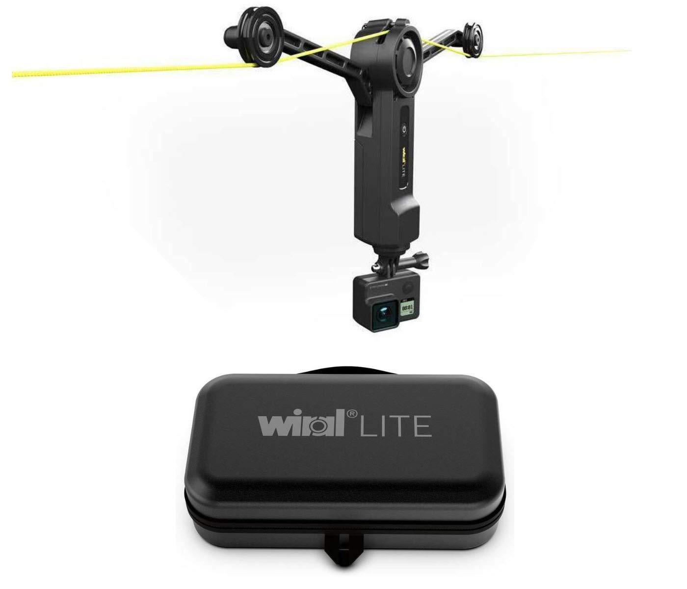 Wiral LITE Motorized Cable Camera Motion Control System for GoPro, Cameras and Smartphones with Wiral Premium Travel Hardcase