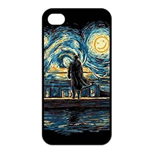 4s , For SamSung Galaxy S5 Case CoverFashion Style New Detective Sherlock Painted Pattern Hard Soft For SamSung Galaxy S5 Case Cover (Black/white)