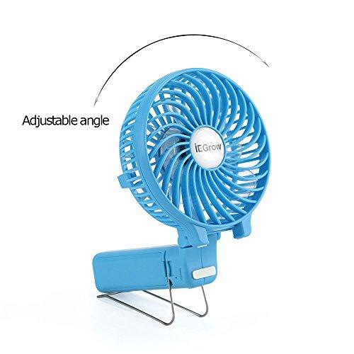 iegrow usb ventilator leise mini handventilator ventilatoren lfter mit batterie. Black Bedroom Furniture Sets. Home Design Ideas