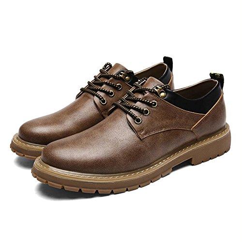Chaussures Pour Hommes Feifei Hiver Loisir Bas Chaussures En Cuir D'aide 3 Couleurs (couleur: Marron, Taille: Eu42 / Uk8.5 / Cn43)