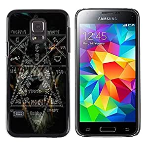 Be Good Phone Accessory // Dura Cáscara cubierta Protectora Caso Carcasa Funda de Protección para Samsung Galaxy S5 Mini, SM-G800, NOT S5 REGULAR! // Witch Rock Metal Heavy Pentagra