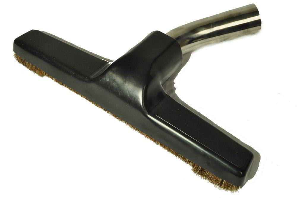 "Eureka Generic Fits: All Floor Brush, Metal Curved Swivel Elbow, horsehair bristles, 1 1/4"" fitting, 10"" wide, color black"