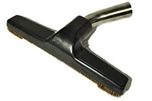 "Eureka Generic Fits: All Floor Brush, Metal Curved Swivel Elbow, horsehair bristles, 1 1/4"" fitting, 10"" wide, color black"