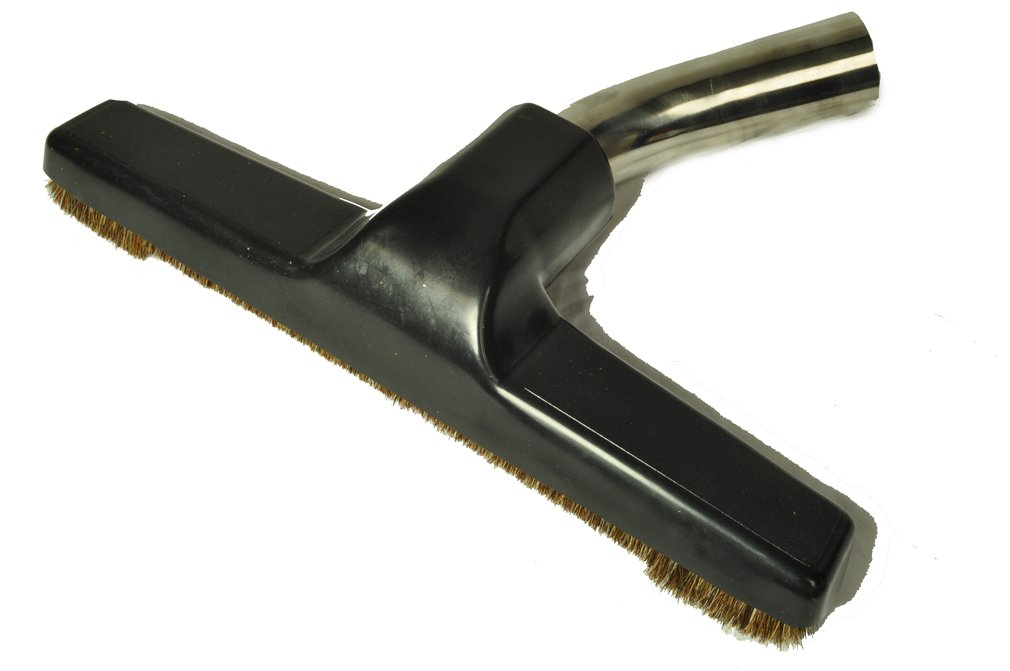 "Generic Floor Brush, Replacment for Eureka, Metal Curved Swivel Elbow, Horsehair bristles, 1 1/4"" Fitting, 10"" Wide"