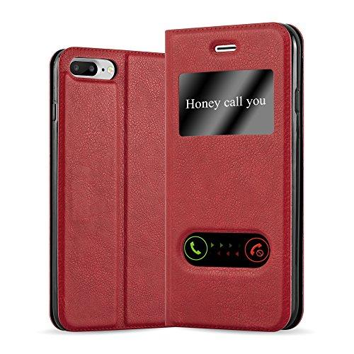 Cadorabo - Funda Book Style de Cuero Sintético en Diseño View para >                          Apple iPhone 8 PLUS / 7 PLUS / 7S PLUS                          < con Imán Invisible, Función de Soporte y Doble Ventana