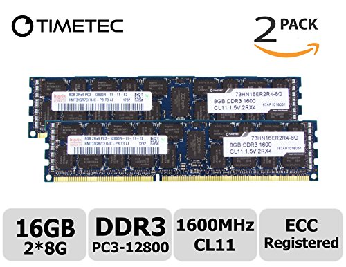 Timetec Hynix 16GB Kit (2X8GB) DDR3 1600MHz (PC3-12800