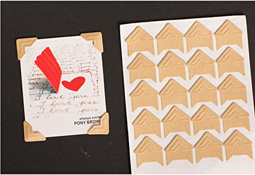 360 Count Self-adhesive Acid Free Photo Corners Scrapbooks Memory Books(Kraft)