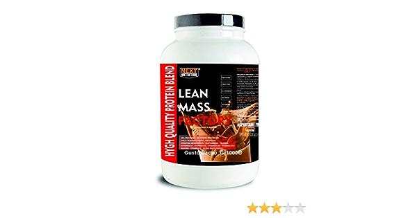 Proteína Aumento de la masa muscular   Gainer, lanzamiento lento   LEAN MASS FACTORY Gr 1000 sabor Cacao   con carbohidratos, creatina glutamina, ...