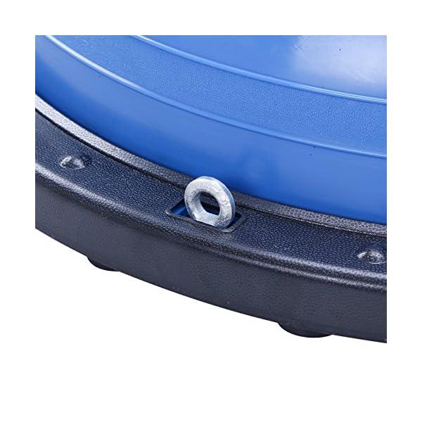 BuoQua Mezza Sfera Cupola Palla 60cm Balance Trainer Equilibrio Azzurro Palla Balance Trainer con Cinghie Laterali E… 5 spesavip