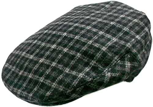 c2cc63b529eaa Mens Wool Blend Plaids Ivy Golf Driver Hat Irish Hunting Gatsby Flat Cap