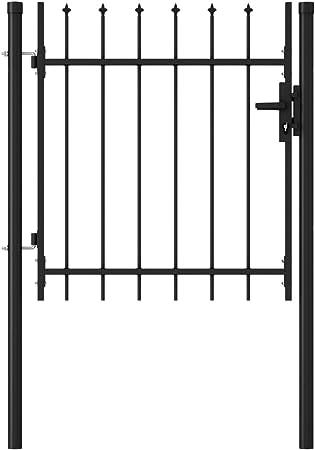 vidaXL Single Door Fence Gate with Hoop Top 100x150cm Garden Fencing Barrier