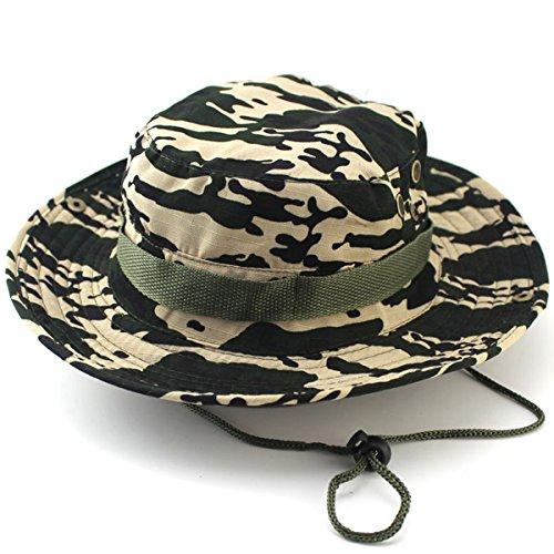K-Elewon Unisex Sun Hat Wide Brim Camouflage Boonie Caps Outdoor Sun Protection Hat