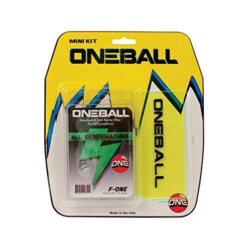ONEBALL MINI WAX KIT F-1 All Temp Wax, ski snowboard Plastic Scraper 2015 One ball kit NEW ()