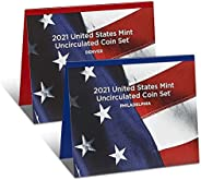 2021 P, D U.S. Mint Uncirculated 14 Coin Mint Set with CoA Uncirculated
