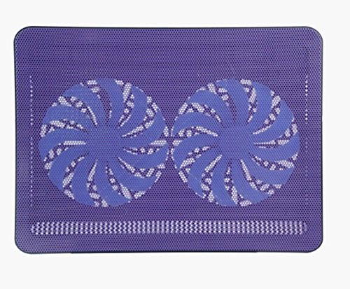 Superbpag Super-slim 17'' Laptop Notebook Cooling Pad Chill Mat with Dual 160mm Blue LED Fans ,Purple
