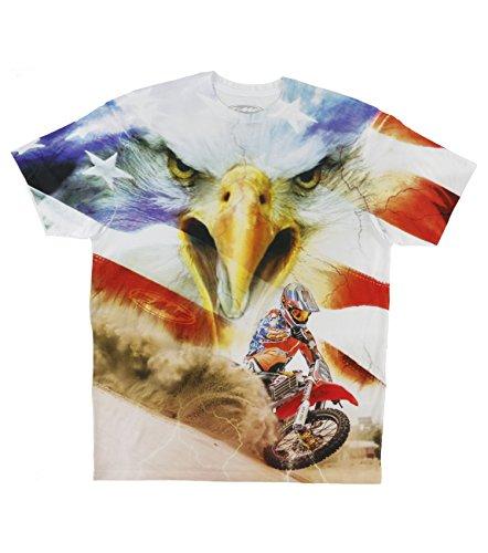 FMF Men's Down Hill Graphic T-Shirt-XL white