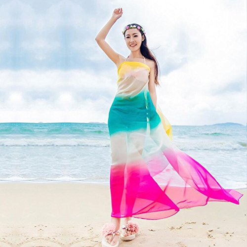Rosa Gonna Da Blu Chiffon Bagno Bikini Dsaren Sciarpa La Involucrocoprire Sarong Costumi Beachwear Sexy 7SqZ1Y