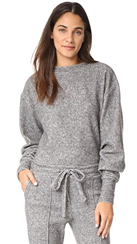 Fleece Cropped Pullover - Twenty Tees Women's Maddux Fleece Cropped Sweatshirt, Heather Grey, X-Small
