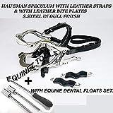 Equine Dental Kit Set Speculum Horse Mouth Gag Float Set Steel Leather McPherson