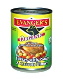 Evanger's 100-Percent Organic For Dogs Turkey with Potato and Carrots Dinner, 12 Pack