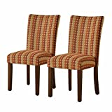 HomePop Parsons Upholstered Accent Dining Chair, Set of 2, Spice Review