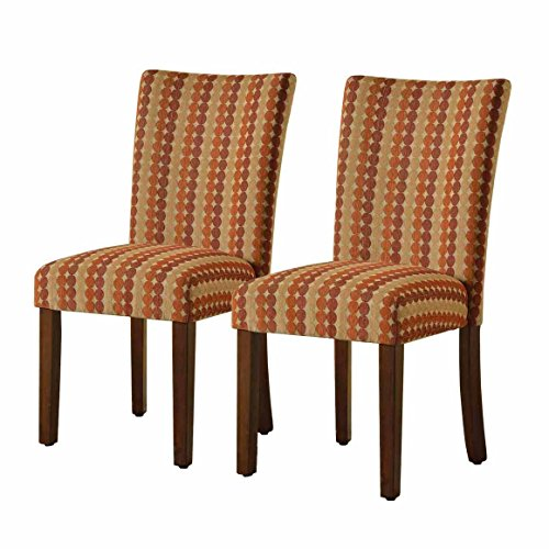 HomePop Parsons Upholstered Accent Dining Chair, Set of 2, Spice