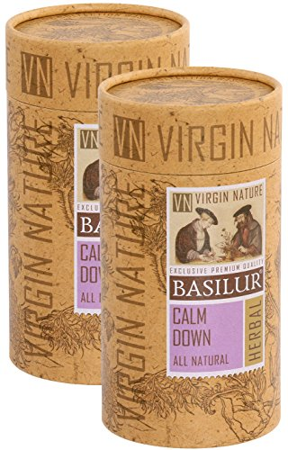 Basilur | CALM DOWN | 100% All Natural Herbal Tea | Virgin Nature Collection | 20 Count Luxury Pyramid Sachets (Pack of 2)